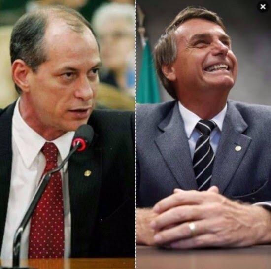 Bolsonaro diz ter 'muito em comum' com Ciro Gomes